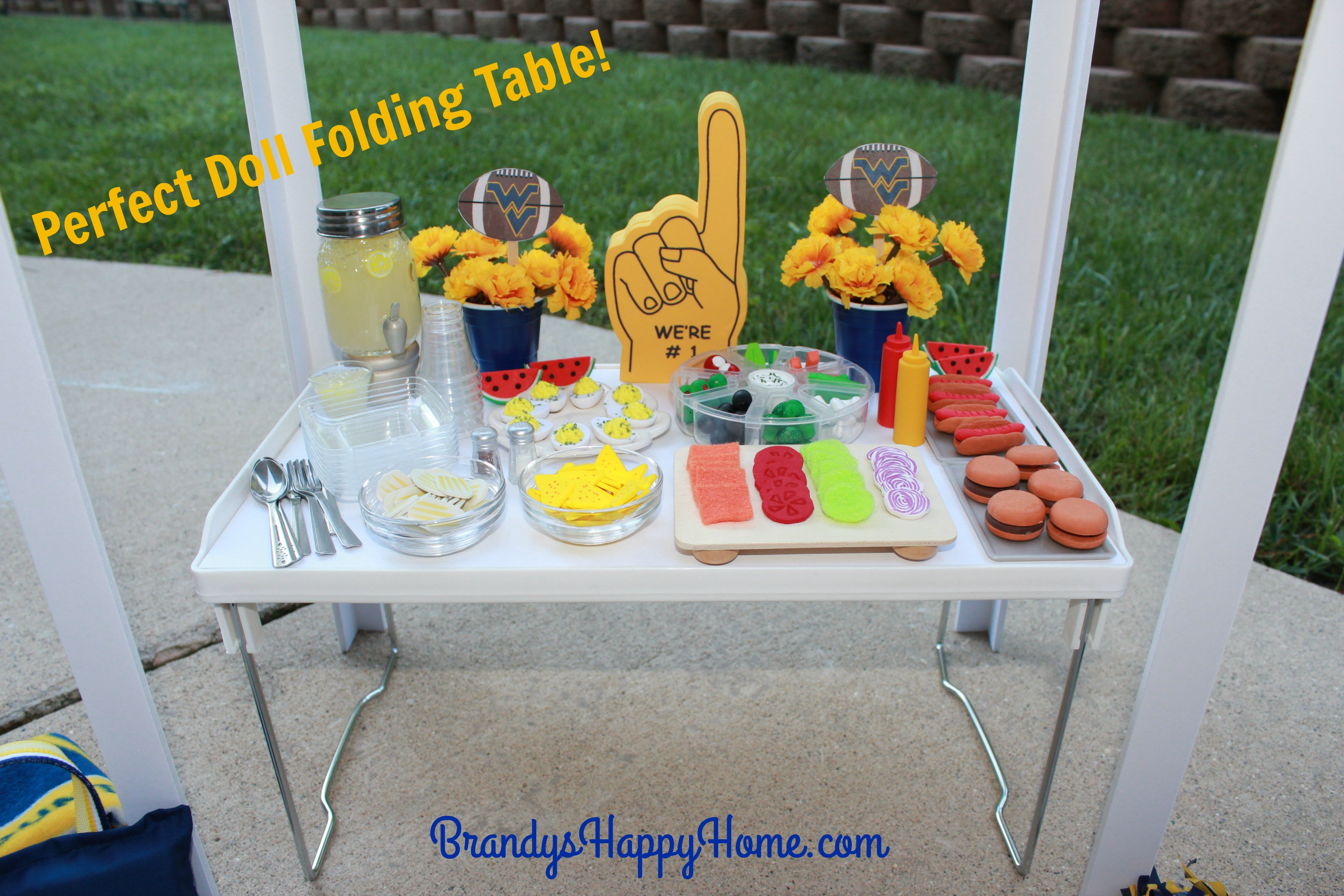 Doll tailgate folding table and food geotapseo Images