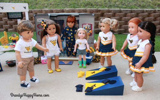 doll tailgate cornhole game