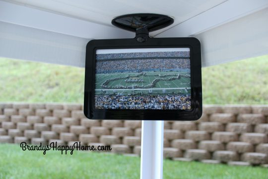 doll tailgate tent tv