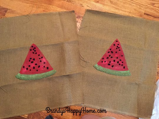 watermelon pillow panels