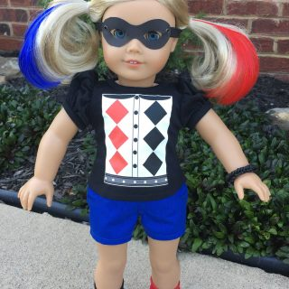 Harley Quinn Doll Outfit