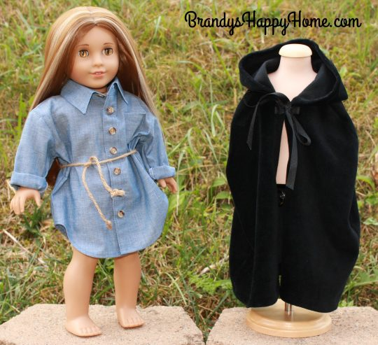 serafina doll black cloak