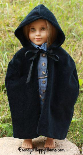 serafina doll in black cloak