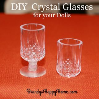 DIY Doll Crystal Glasses