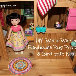 DIY Wellie Wisher Playhouse RUG and BIRD
