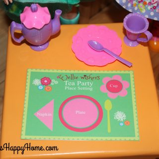 Wellie Wisher DIY Tea Set and Placemats