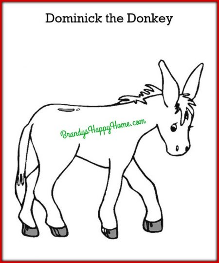 The Class Was Also Given A Dominick Donkey Coloring Page To Color As They Desire Inspire Kids Use Their Imaginations