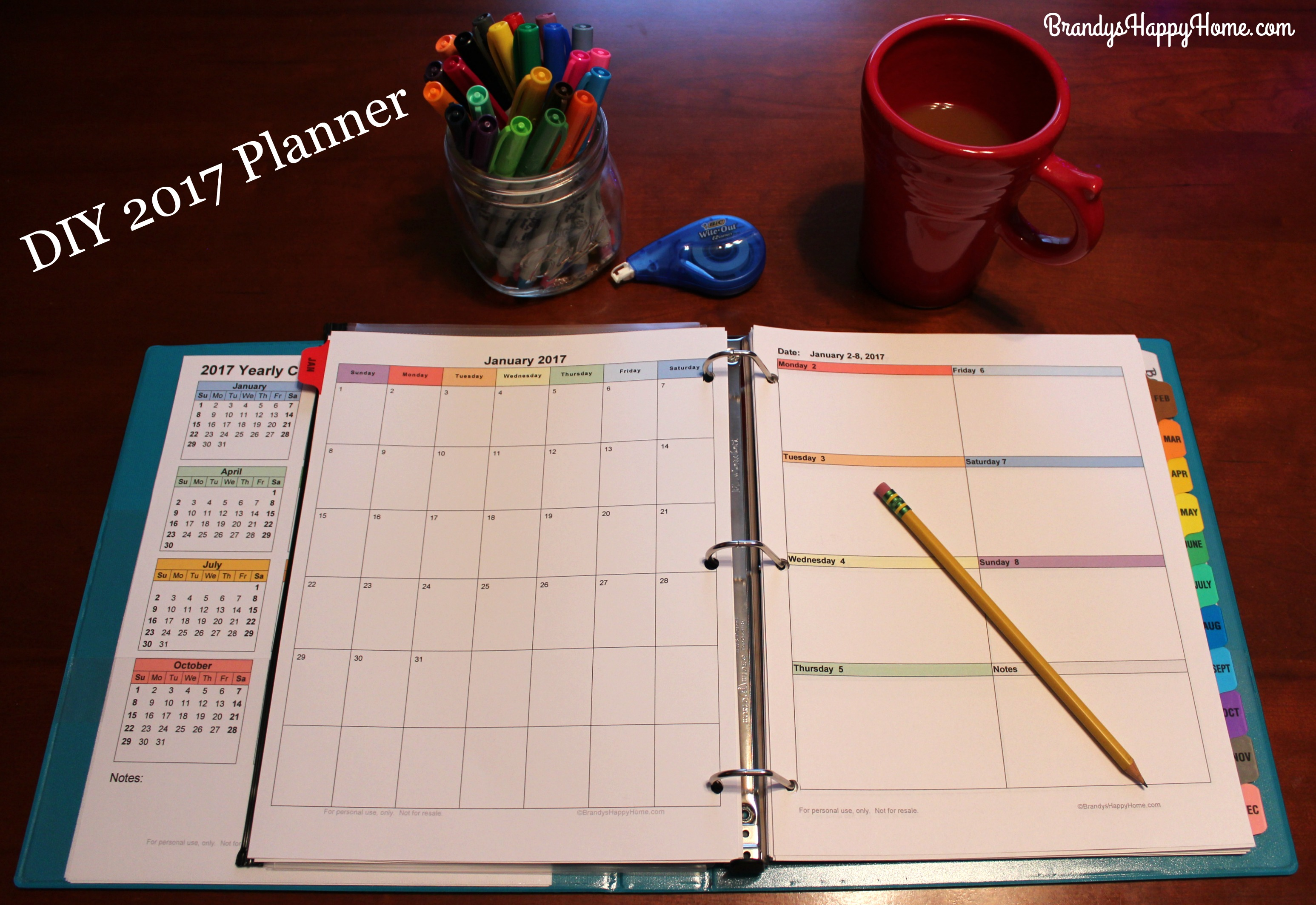 Diy Kitchen Calendar : Diy calendar planner