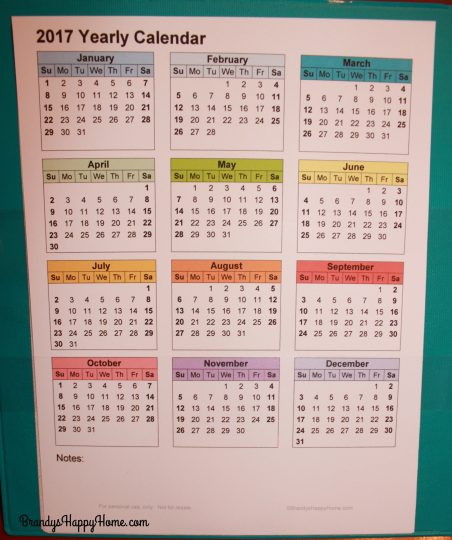 Year Calendar Diy : Diy calendar planner