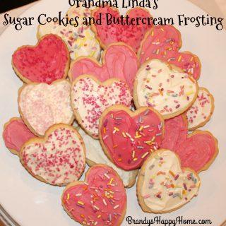 Grandma Linda's Sugar Cookies & Buttercream Frosting