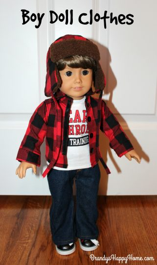 "Red Short Sleeve T Shirt  Fits 18/"" American Girl Dolls"