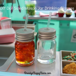 DIY Doll Mason Jar Ice Tea