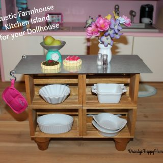 DIY Dollhouse Kitchen Island