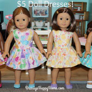 $5 Doll Dresses!
