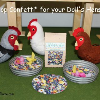 """Coop Confetti"" for your Doll's Hens"