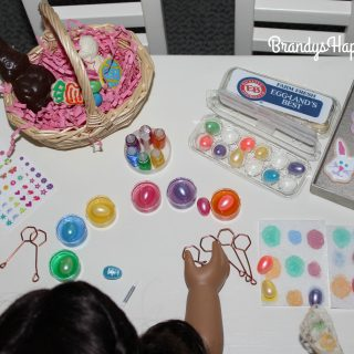 Doll DIY Colored Easter Eggs
