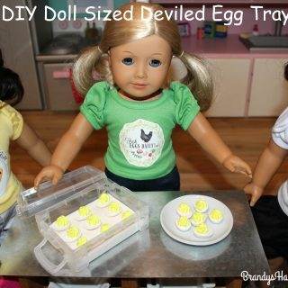 DIY Doll Sized Deviled Egg Tray