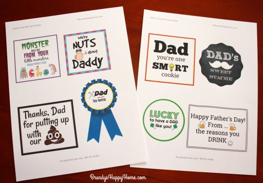 graphic relating to Lucky to Have a Dad Like You Printable titled Fathers Working day Present Tags