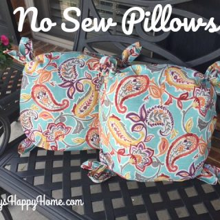 No Sew Pillows