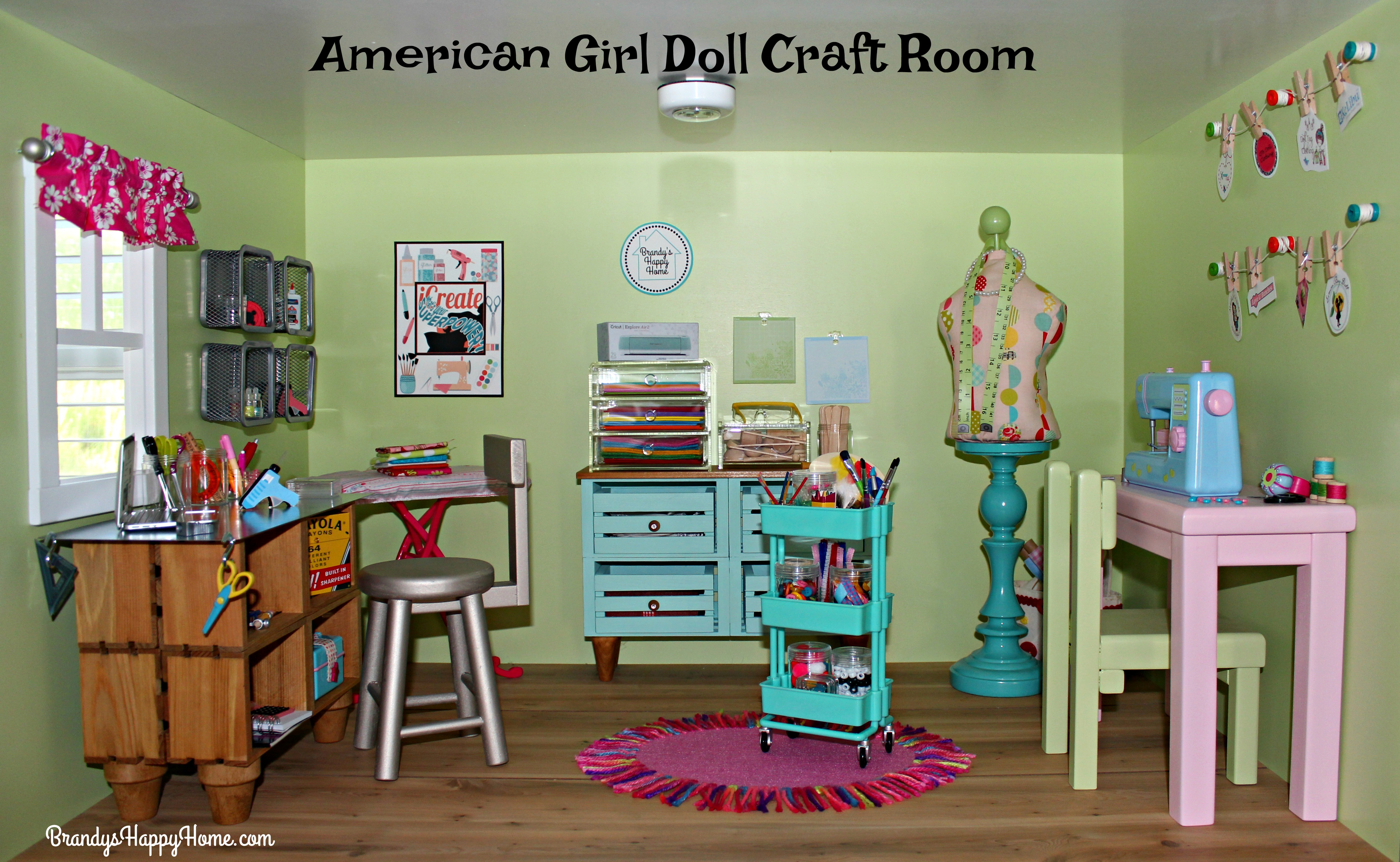 American Girl Dollhouse Craft Room