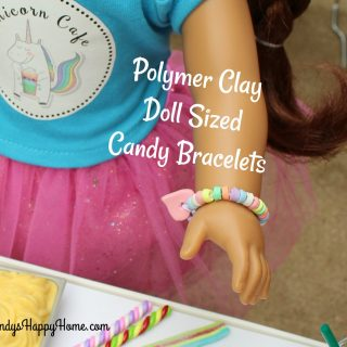 Polymer Clay Doll Sized Candy Bracelets