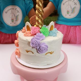 Unicorn Cake for your Dolls!
