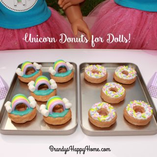 Unicorn Rainbow Donuts for Dolls