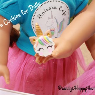 Unicorn Cookies for Dolls