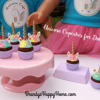Unicorn Cupcakes for Dolls
