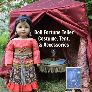 Fortune Teller Costume & Tent for Dolls