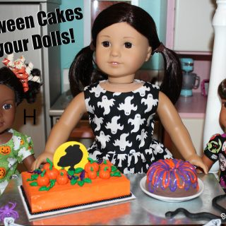 DIY Halloween Cakes and Cake-Walk for Dolls!