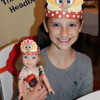 Printable Thanksgiving Headbands for Kids & Dolls