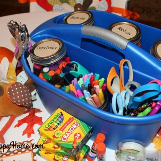 """The Kid's Table"" Craft Caddy"
