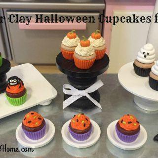 DIY Polymer Clay Halloween Cupcakes for Dolls