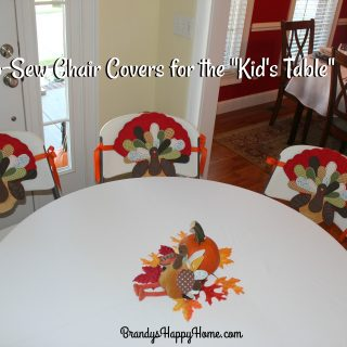 DIY No-Sew Chair Covers