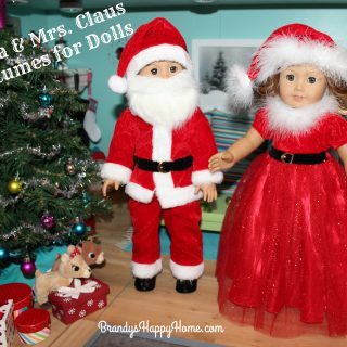 Santa & Mrs. Claus Costumes for Dolls