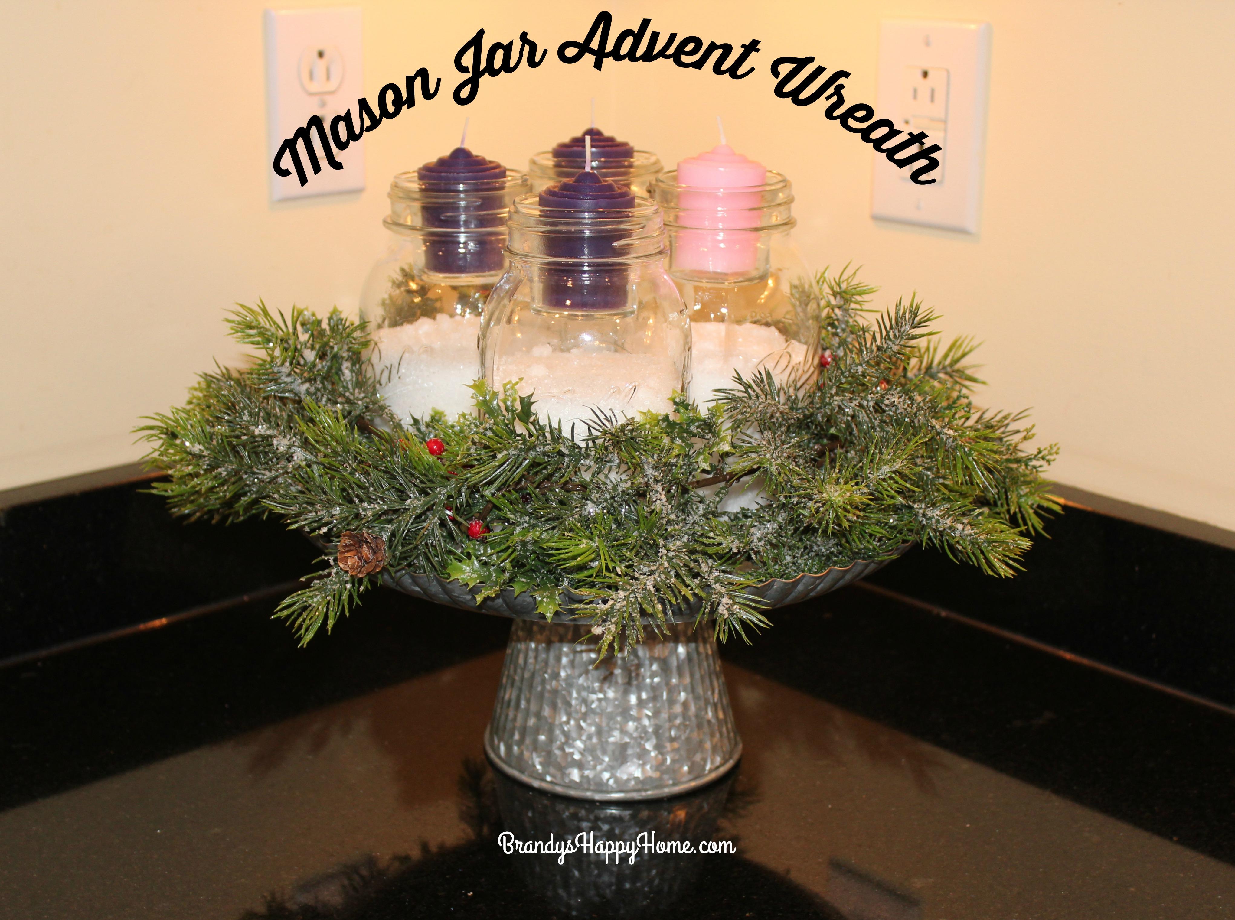 Mason Jar Advent Wreath