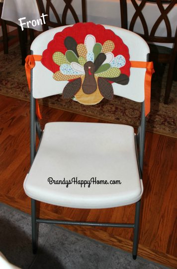 I Had These Adorable Turkey Placemats From Pottery Barn Kids. After Years  Of Use, They Still Washed Up Great. I Decided To Recycle Them Into Chair  Covers.