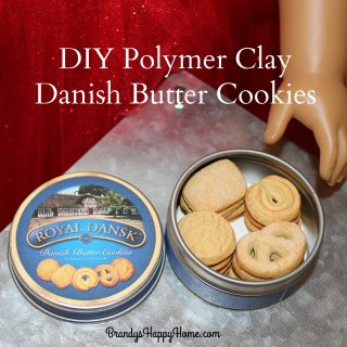 DIY Polymer Clay Danish Butter Cookies