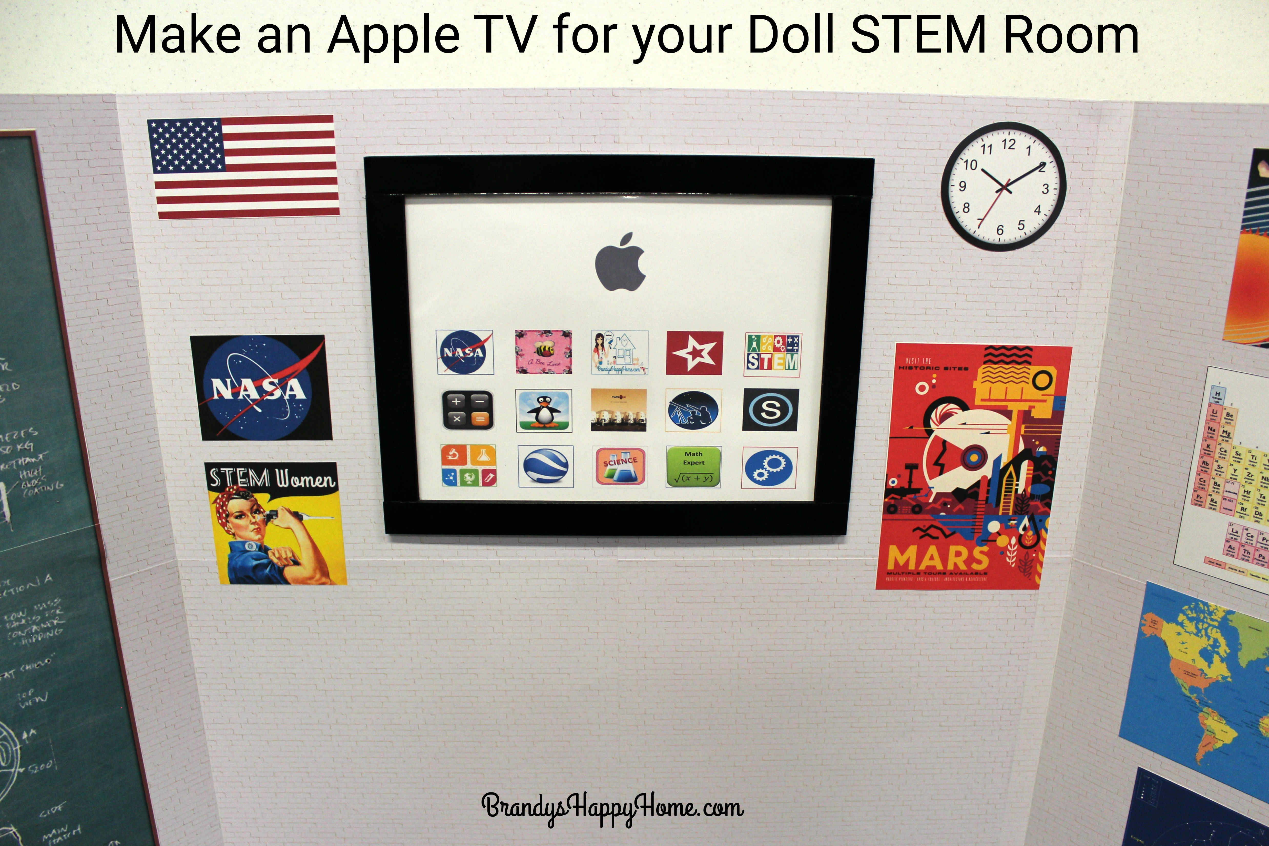 How to make an apple tv for your doll stem room ccuart Choice Image
