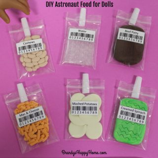 DIY American Girl Doll Astronaut Food