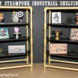 Steampunk Industrial Shelving for American Girl Dolls