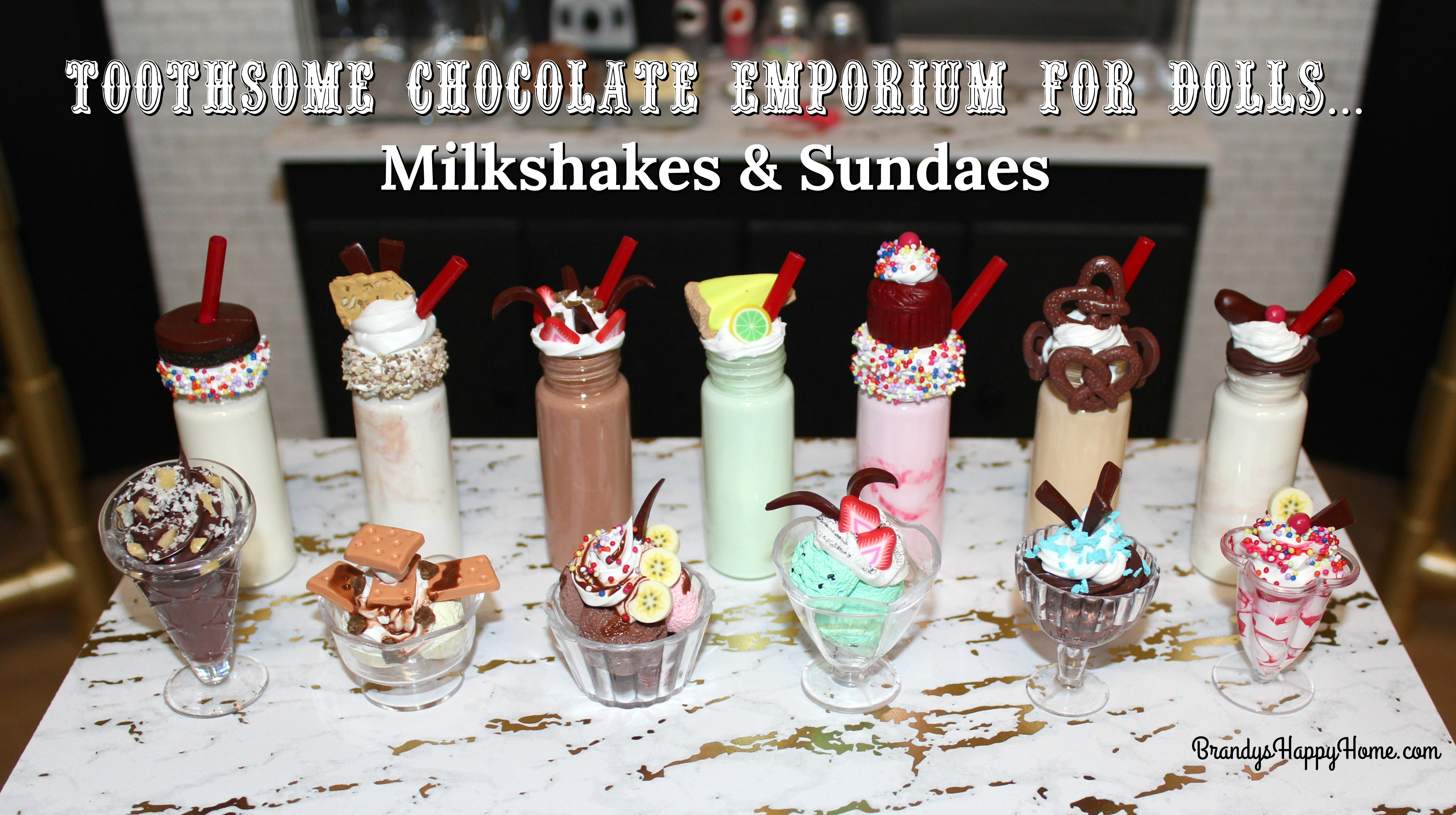 Toothsome Chocolate Emporium For Dollsdiy Milkshakes