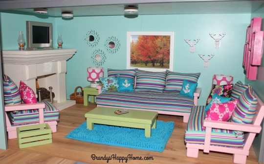 american girl living room american dollhouse 12956