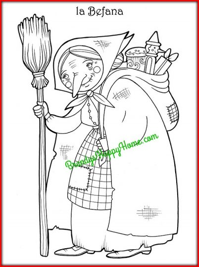 la befana coloring page 2 italian christmas traditions for the classroom