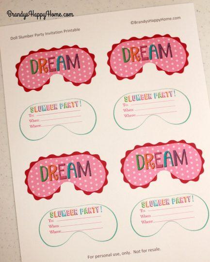 It is a photo of Free Printable Slumber Party Invitations for 18th birthday