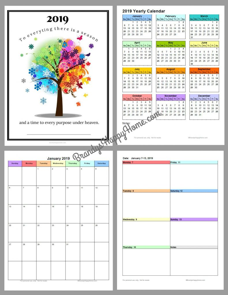 Adaptable image regarding free printable planners